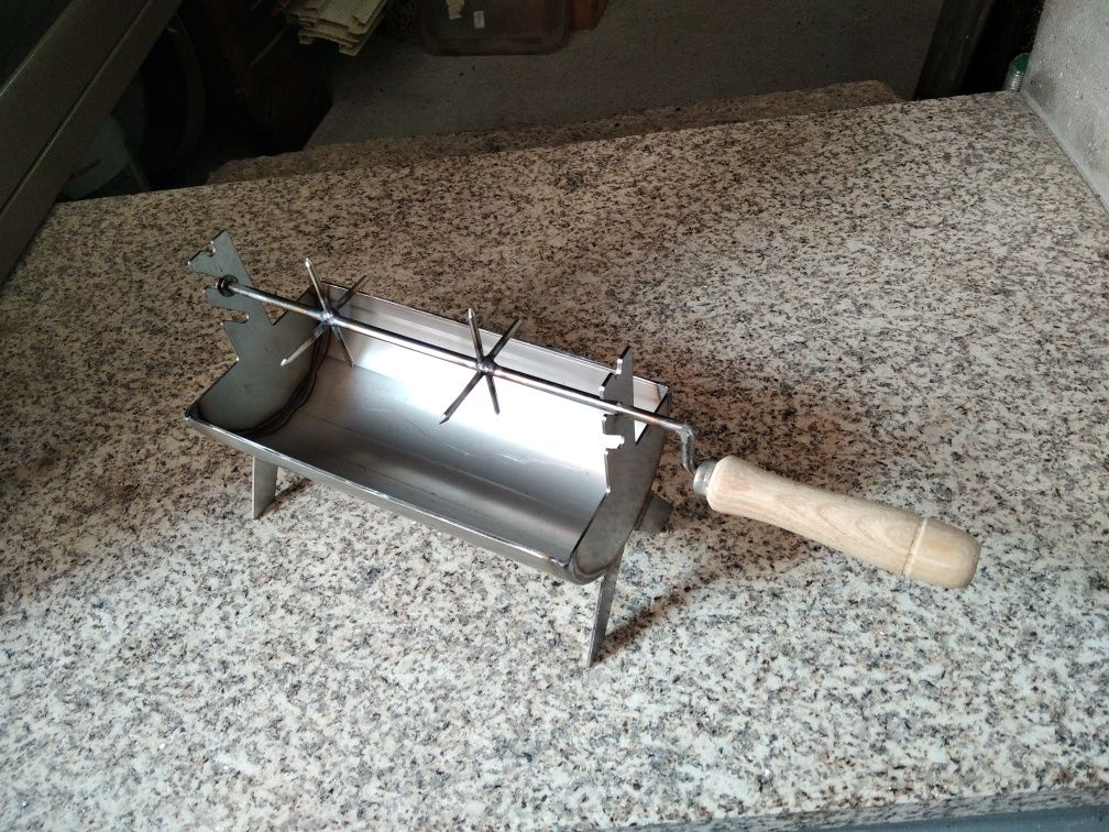 Mini churrasqueira inox