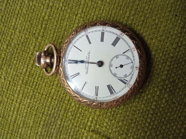 Zegarek kieszonkowy złoty Waltham 1896r