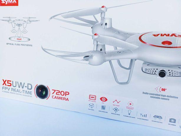 Dron RC Syma X5UW-D FPV 360 biały, 4 akumulatory