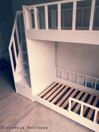 Piętrowe łóżko drewniane