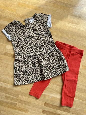 Komplet Carters tunika + spodnie dla dziewczynki rozmiar 74