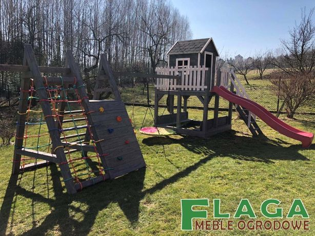 Mega rozbudowany plac zabaw dla dzieci,wspinaczki,zjeżdżalnia,domek