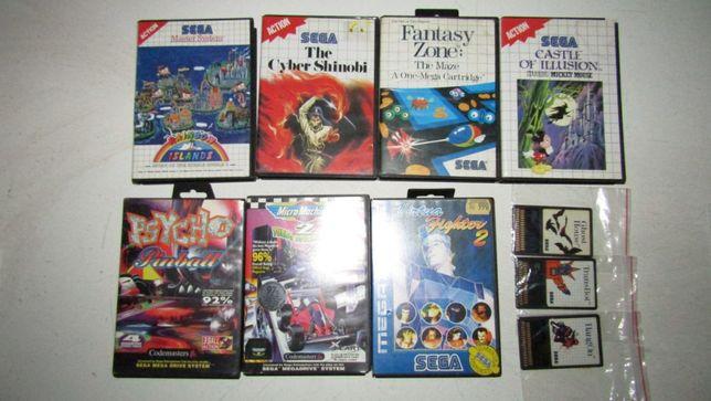 Lote de Jogos Sega Mega Drive / Master System - Ler Anúncio