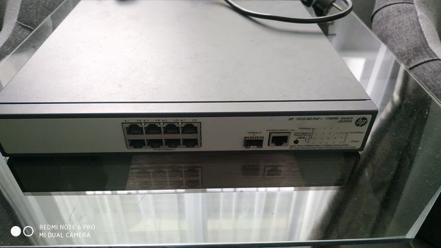 Коммутатор,свич,свіч,switch HP 1910-8G-PoE+ (180 Вт) JG350A