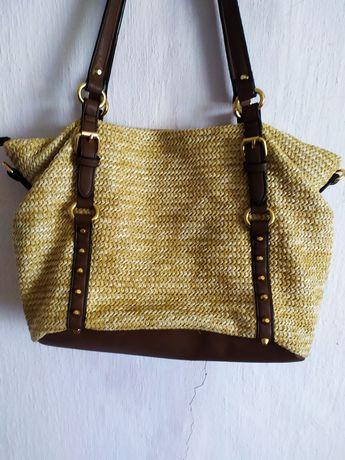 Жіноча сумка з гарної м'якої тканини,у доброму стані