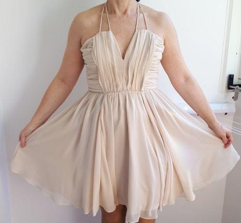 Sukienka XS beżowa H&M