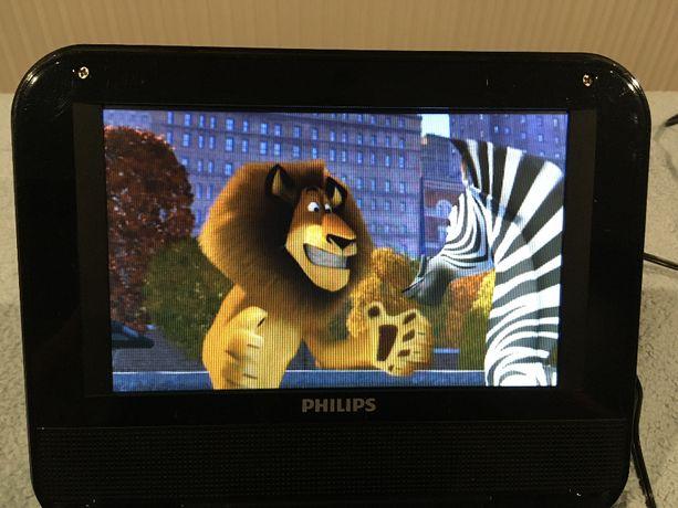"""przenośny odtwarzacz Philips 7"""" PD709/12 DVD CD JPG"""