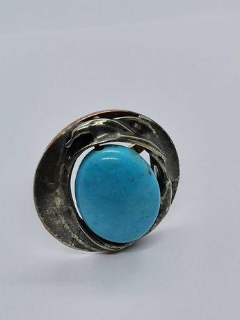 pierścionek z metaloplastyki rękodzieło Cu/Ag Eremit