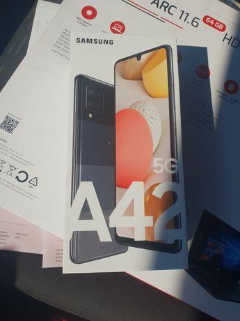 Smartfon Samsung a42 5g czarny 64gb NOWY