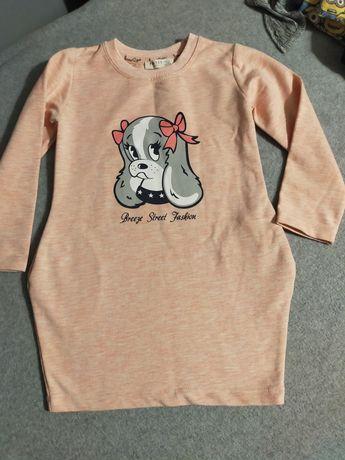 Dresowa tunika dla dziewczynki rozm 104