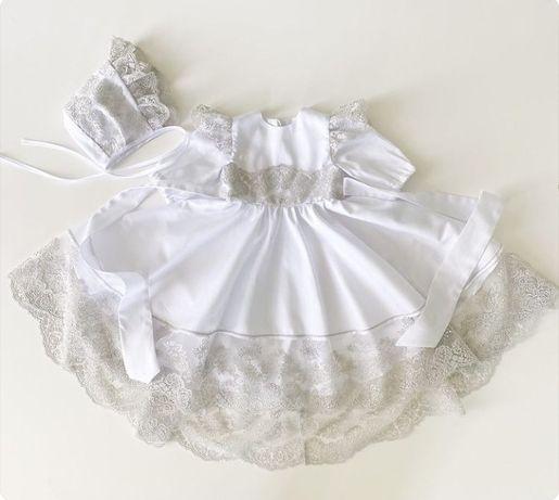 Платье крестильное + шапочка
