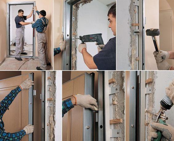 Продажа, монтаж, демонтаж входной двери любой сложности