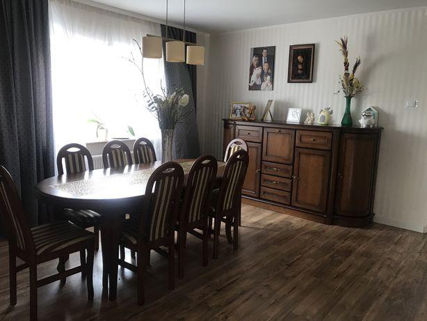 Stol i komoda do salonu - dębowe