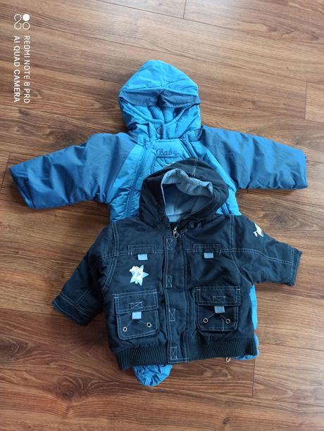 Kombinezon zimowy+ kurtka 0-6