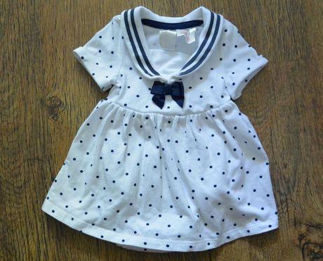 Платье боди H&M 2-4 мес короткий рукав морячка