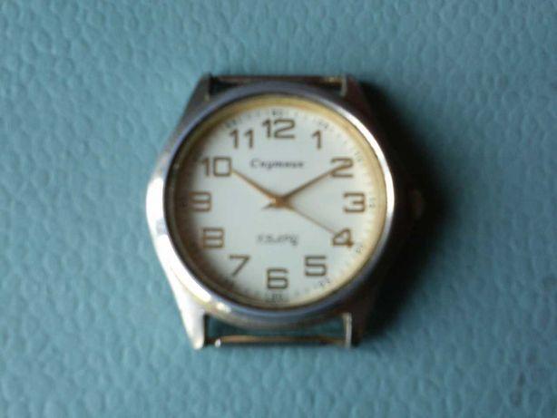 Спутник японский механизм кварц часы наручные мужские Россия