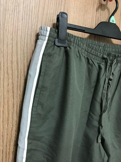 Spodnie dresowe oliwkowe r. 52 BonPrix NOWE Plus size zielone