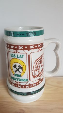 Kufel na piwo karczma piwna Kwk Nowy Wirek 1979
