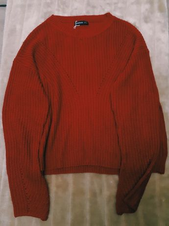 Camisola Vermelha de malha Stradivarius Tamanho S
