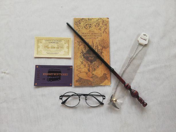 Harry Potter mapa różdżka okulary bilety