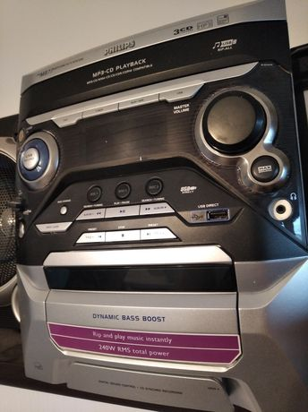 Wieża Philips  USB karaoke super dwa głośniki
