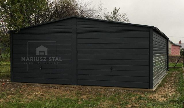 Garaż 6x5.80 Poziomy panel blachy grafit mat PRODUCENT Zapraszam