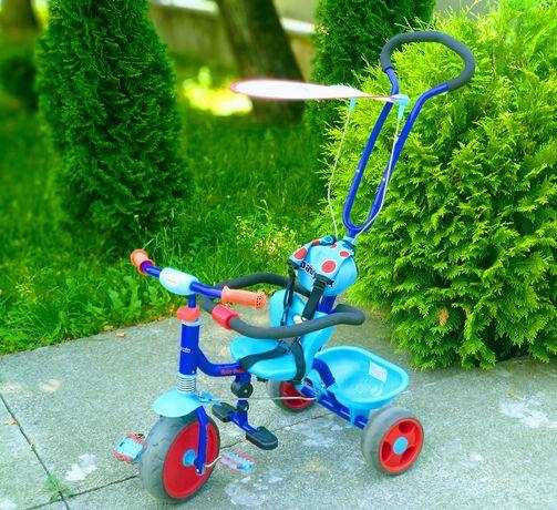 Велосипед триколісний з ручкою дитячий