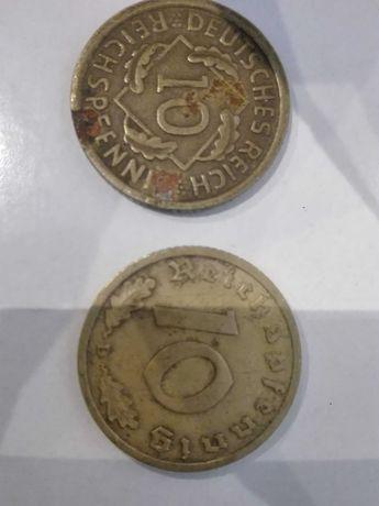 2 Stare Niemieckie Monety 39 zł