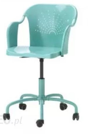 2 Krzesła obrotowe ikea Roberget turkusowe