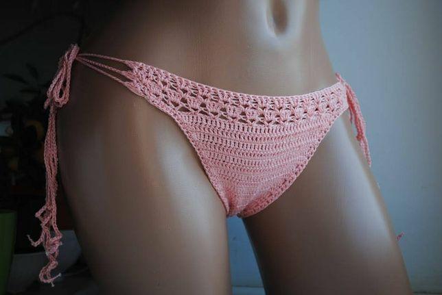 Crochet bikini bottom pink color, bikini bottom