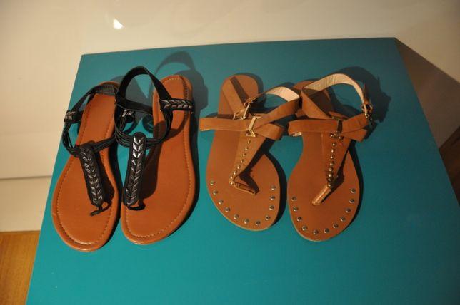 Sandały letnie czarne 39, brązowe 38