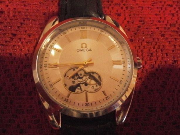 Часы мужские OMEGA скелетон новые