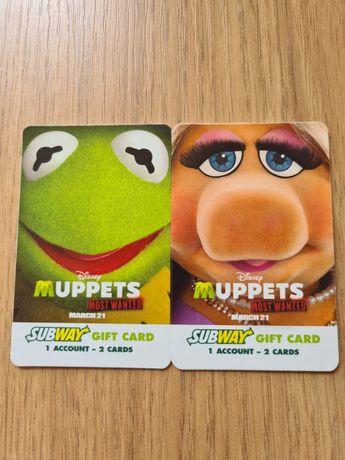 Karty Kermit i Pigi Subway !!!