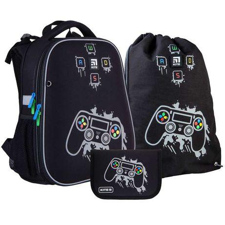 Школьный набор рюкзак + пенал + сумка Kite Gamer K21-531M-2