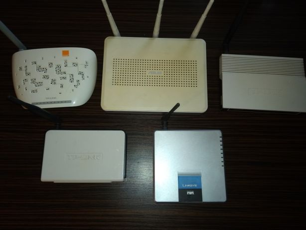TP-LINK ASUS Linksys 5 sztuk routerów jedna cena