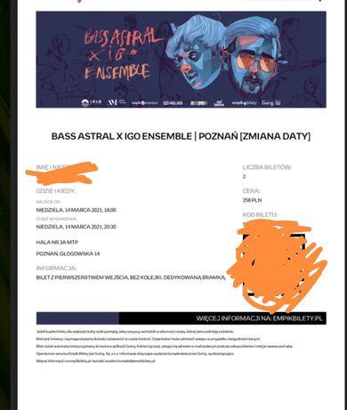 Koncert bilety Bass Astral x Igo Ensemble | Poznań [ZMIANA DATY]