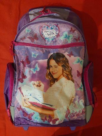 plecak szkolny na kółkach z rączką wysuwaną 'Violetta' nowy