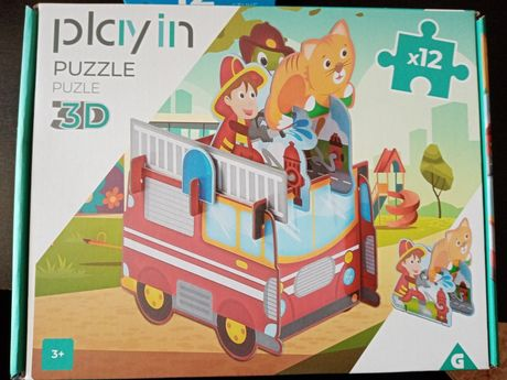 Puzzle 3D, 12 peças, 3+, Portes incluídos