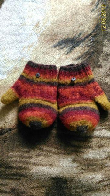 Продам детские шерстяние рукавички -перчатки