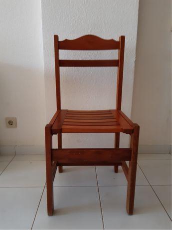 Conjunto 6 cadeiras de madeira (preco por cadeira)
