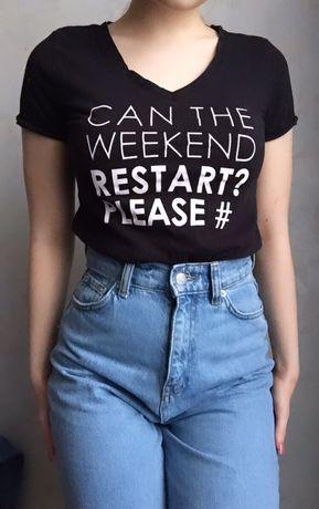 Чёрная футболка с надписью