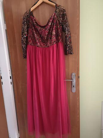 ASOS Little mistress sukienka 46 maxi czerwona HISZPANKA