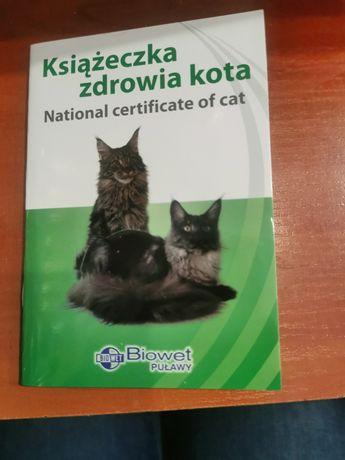 Książeczka Zdrowia kota