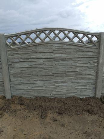 Ogrodzenie betonowe garaż wiata