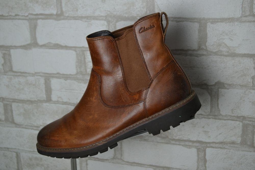 Кожаные челси ботинки Clarks черевики шкіряні  44,5 размер 28,5-29см Мукачево - изображение 1