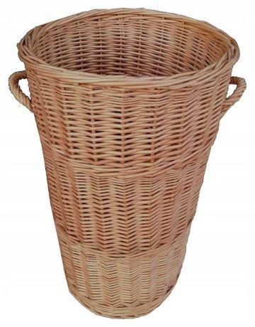 Wiklinowy pojemnik 'Beczka' kosz na pranie bieliznę okrągły wys. 75 cm