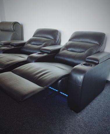 Fotele Kinowe Relaks Telewizyjne Masaż USB Chłodziarka - deluxdeco.pl