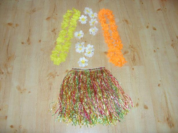 2, Hula Hawajska spódniczka łańcuch z kwiatów strój kostium