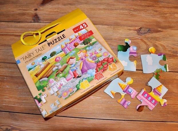 Puzzle wróżka duże kawałki, żywe kolory