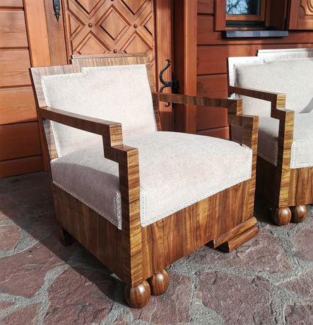 Fotele Art Deco Lata 30 Projektowe Rasowe